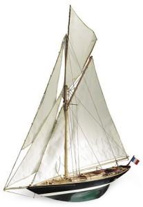 Ветроходна яхта - Pen Duick - Сглобяем модел от дърво -