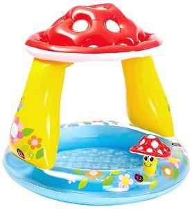 Надуваем бебешки басейн със сенник - Гъбка -