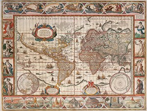 Старинна карта 1650 -