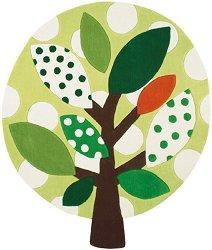 Детски килим - Дърво - С асиметрична форма -