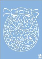 Шаблон - Орнамент яйце -