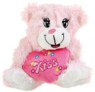 Мече със сърчице - Kiss - Плюшена играчка -