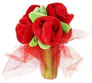 Букет с рози - Плюшена играчка -