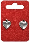 Метални висулки - Сърца - Комплект от 2 броя -