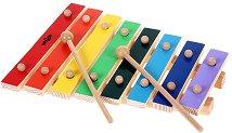 Дървен ксилофон - Детски музикален инструмент -