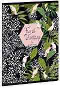 Ученическа тетрадка - Floral Kakadu : Формат А5 с широки редове - 40 листа -
