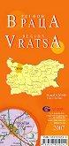 Враца - регионална административна сгъваема карта - карта
