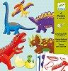 Създай сам картонени фигури - Динозаври - Творчески комплект за сглобяване и рисуване -