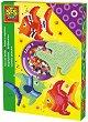 Мозайка с мъниста - Рибка - Комплект от 1200 броя -