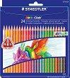 Цветни ергономични моливи - Noris Club 127 - Комплекти от 6, 12 и 24 цвята -