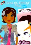 """Galt: Аз съм моден дизайнер. Прически и грим - книжка за оцветяване със стикери : Beauty Design Pad - Книжка за оцветяване със стикери от серията """"B Glam"""" -"""