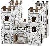"""Замък """"Dragon Rock"""" - Комплект картонен модел с маркери за оцветяване от серията """"Level 2"""" -"""