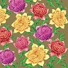 Салфетки за декупаж - Разноцветни цветя - Пакет от 20 броя -