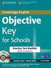 Objective - Key (A2): Тестова книжка с отговори + CD : Учебен курс по английски език - Second Edition - Annette Capel, Wendy Sharp -