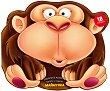Забавните животни: Залепи и оцвети - Маймунка -