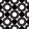Салфетки - Черни кръгове - Пакет от 20 броя -