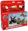 Военен самолет - North American F-51 Mustang - Сглобяем модел - комплект с лепило и бои -
