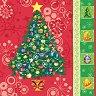 Салфетки за декупаж - Коледна елха - Пакет от 20 броя -