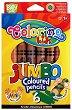 Цветни моливи - Extra Jumbo - Комплект от 6 цвята + острилка -