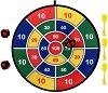 Плюшен дартс - Комплект с 3 стрелички и 3 топчета -
