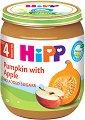 HiPP - Био пюре от тиква и ябълка - Бурканче от 125 g за бебета над 4 месеца -