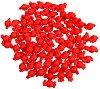 Мъниста - Червени бонбони - Опаковка от 50 g -
