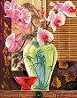 Нарисувай сам шедьовър - Ваза с орхидеи - Творчески комплект -