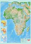 Природногеографска карта на Африка - M 1:8 000 000 -