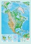 Природногеографска карта на Северна Америка - M 1:9 000 000 -