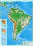 Природногеографска карта на Южна Америка - карта