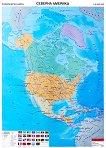 Политическа карта на Северна Америка -