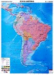 Политическа карта на Южна Америка -