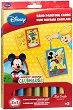 Оцветявай с цветен пясък - Мики Маус и Доналд Дък - Творчески комплект за рисуване -