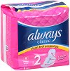Always Classic Maxi Dry Pads - Дамски превръзки с крилца в опаковка от 9 броя -