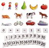 Фигури, цифри и знаци - Образователни играчки с магнит -