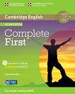 Complete First - Ниво B2: Учебник + CD Учебна система по английски език - Second Edition -