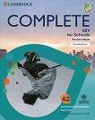 Complete Key for Schools - Ниво A2: Книга за учителя : Учебен курс по английски език - Emma Heyderman -