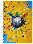 Тетрадка - речник с 2 полета и спирала - Формат А5 -