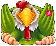 Забавните животни: Залепи и оцвети - Петле -