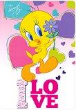 """Ученическа тетрадка - I Love - Формат А5 от серията """"Tweety"""" -"""
