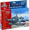 Военен хеликоптер - UH-1C - Сглобяем модел - комплект с лепило и бои -