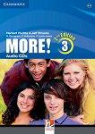 MORE! - Ниво 3 (A2 - B1): 3 CD с аудиоматериали Учебна система по английски език - Second Edition -