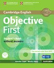 Objective - First (B2): Учебник + CD : Учебен курс по английски език - Fourth edition - Annette Capel, Wendy Sharp - учебна тетрадка