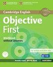 Objective - First (B2): Учебна тетрадка + CD : Учебен курс по английски език - Fourth edition - Annette Capel, Wendy Sharp - продукт