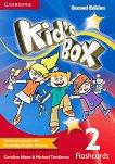 Kid's Box - ниво 2: Флашкарти по английски език : Second Edition - Caroline Nixon, Michael Tomlinson -