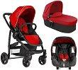Бебешка количка 3 в 1 - Evo trio: Chilli red - С 4 колела -