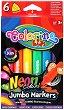 Неонови маркери - Комплект от 6 цвята -