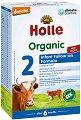 Преходно мляко - Holle Organic 2 - Опаковка от 600 g за бебета над 6 месеца -