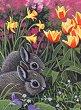 Рисуване по номера с акрилни бои - Зайчета