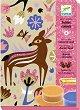 Оцветявай с цветен пясък - Животни - Творчески комплект -